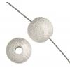 Bead Round Stardust 10mm Silver